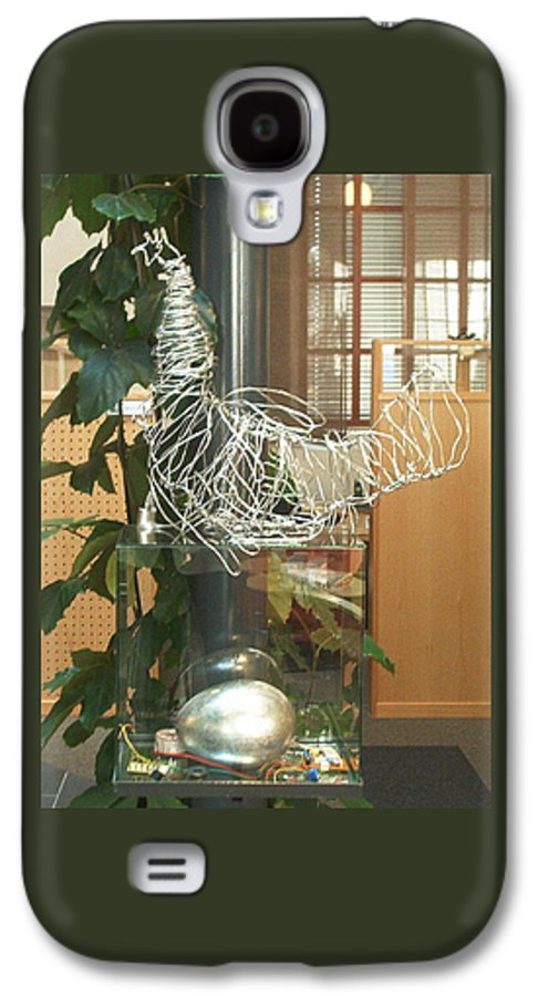 Galaxy S4 Case featuring the sculpture Techno Hen by Jarle Rosseland