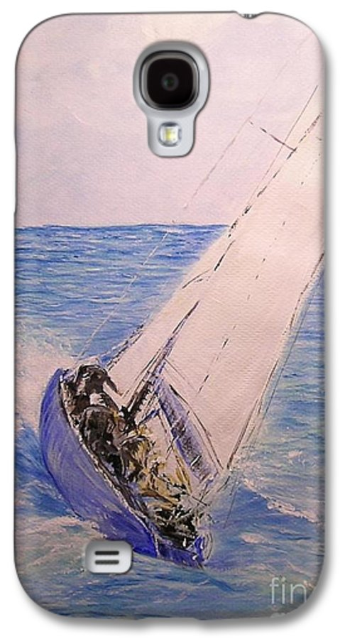 Seascape Galaxy S4 Case featuring the painting Tell Tails In The Wind by Lizzy Forrester