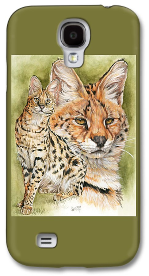 Serval Galaxy S4 Case featuring the mixed media Tempo by Barbara Keith