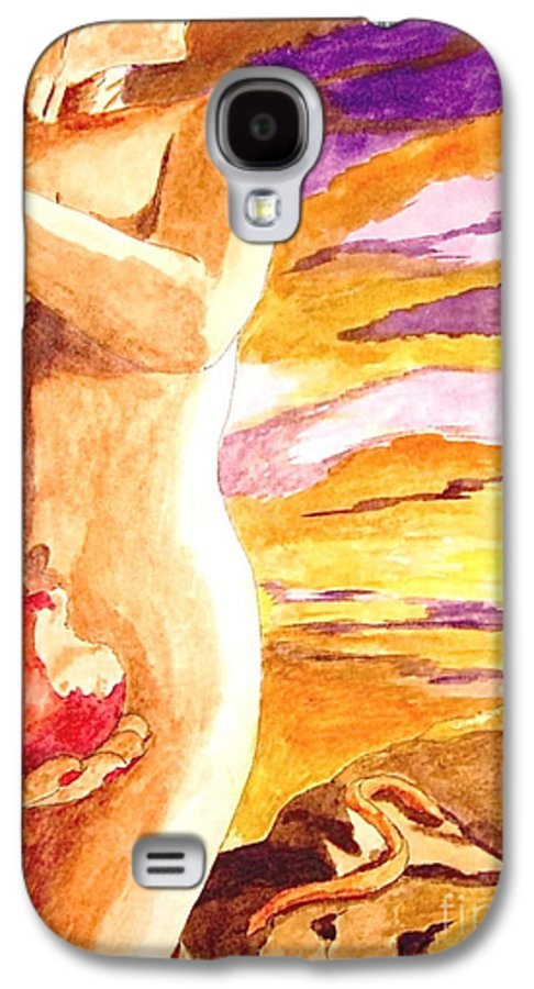 Watercolor Galaxy S4 Case featuring the painting Temptation by Herschel Fall