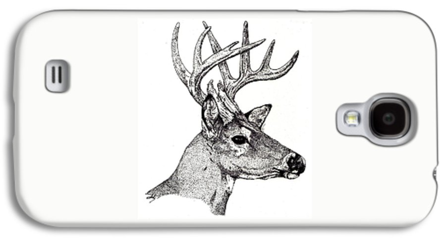 Deer Galaxy S4 Case featuring the drawing Ten Point Buck by Debra Sandstrom