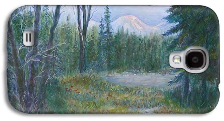 Landscape Galaxy S4 Case featuring the painting Teton Valley by Ben Kiger