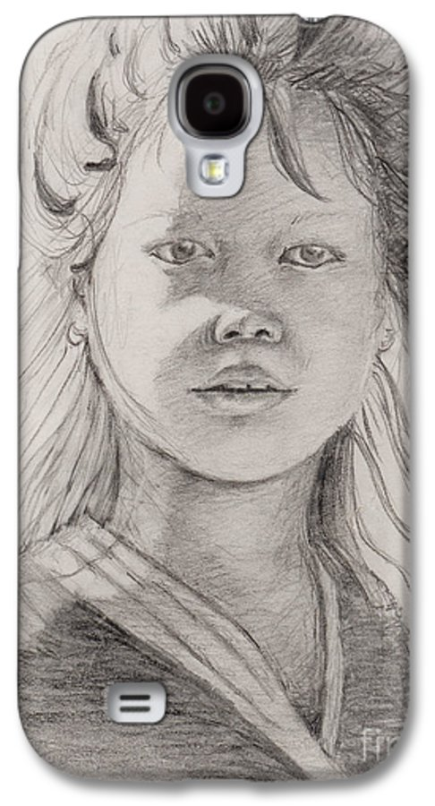 Portrait Galaxy S4 Case featuring the drawing Thai Beauty by Nadine Rippelmeyer