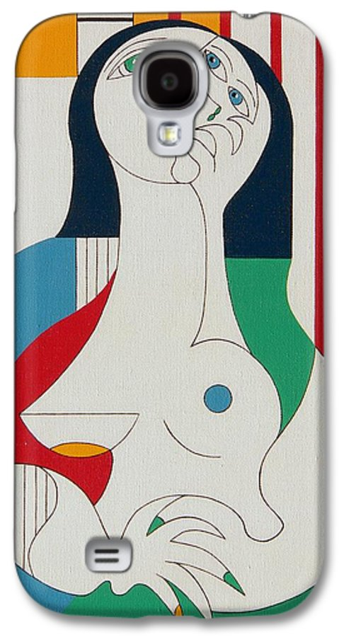 Women Fingers Nails Modern Humor Galaxy S4 Case featuring the painting Thanks by Hildegarde Handsaeme