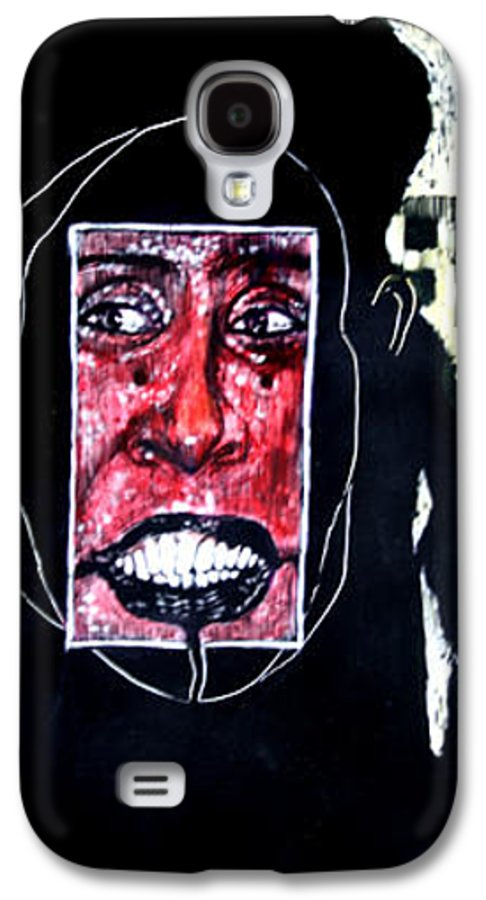 Smile Galaxy S4 Case featuring the mixed media That Certian Smile by Chester Elmore