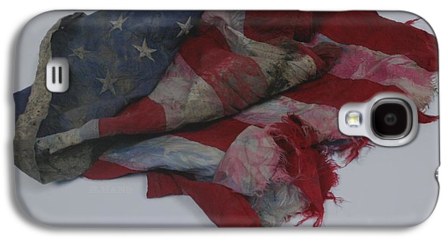 911 Galaxy S4 Case featuring the photograph The 9 11 W T C Fallen Heros American Flag by Rob Hans
