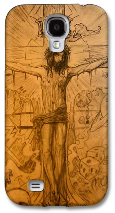 Jesus Galaxy S4 Case featuring the drawing The Ace Of Hearts by Will Le Beouf