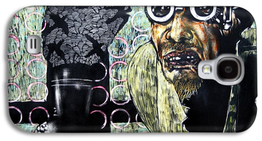 Scratchboard Galaxy S4 Case featuring the mixed media The Alchemist by Chester Elmore