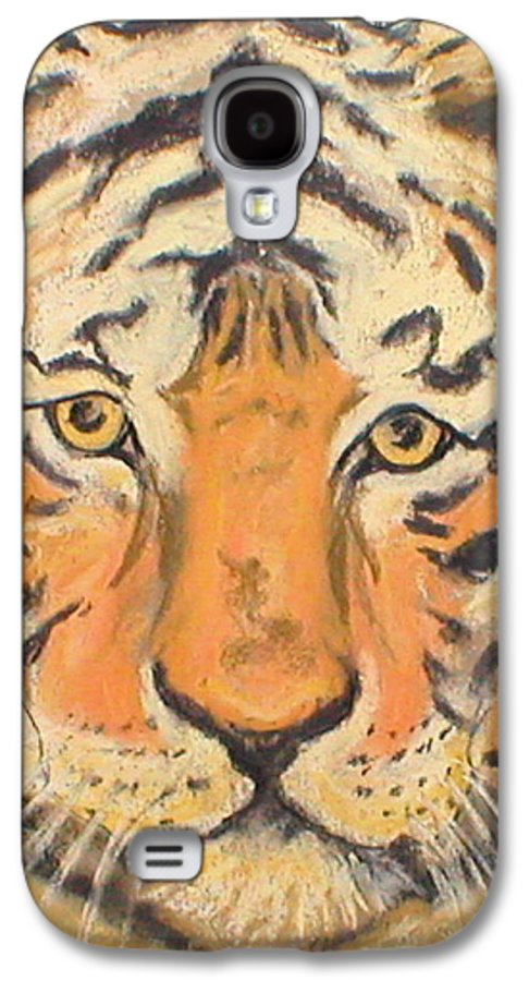 Pastel Galaxy S4 Case featuring the drawing The Amber Stare by Cori Solomon