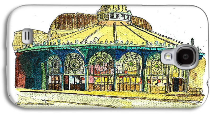 Asbury Art Galaxy S4 Case featuring the painting The Asbury Park Casino by Patricia Arroyo