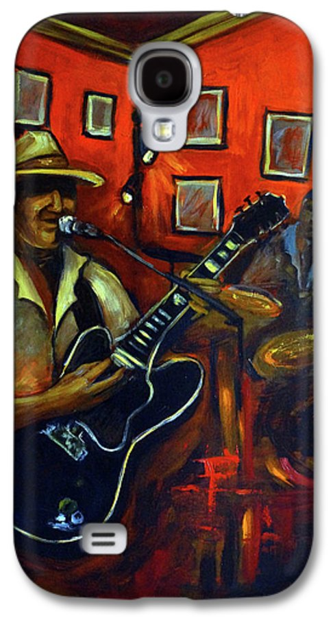 Blues Galaxy S4 Case featuring the painting The Back Room by Valerie Vescovi