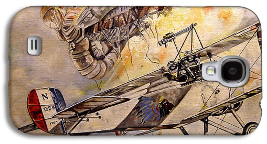 Military Galaxy S4 Case featuring the painting The Balloon Buster by Marc Stewart