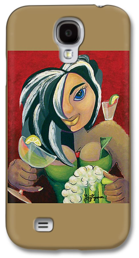 Bar Galaxy S4 Case featuring the painting The Barwaitress by Elizabeth Lisy Figueroa