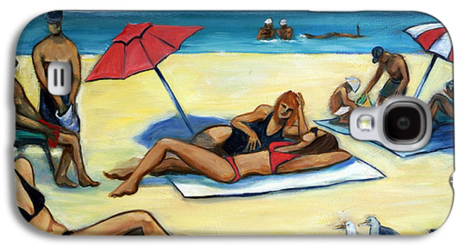 Beach Scene Galaxy S4 Case featuring the painting The Beach by Valerie Vescovi