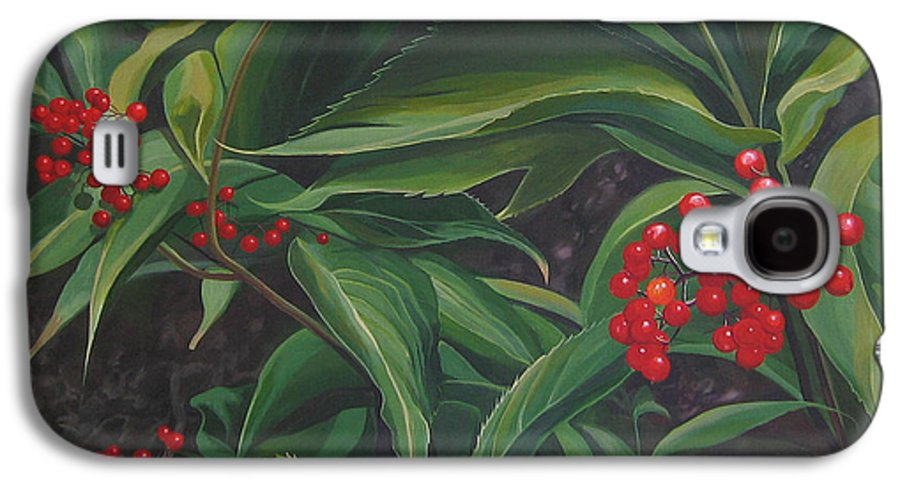 Berries Galaxy S4 Case featuring the painting The Berries On Guanella Pass by Hunter Jay