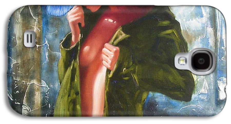 Art Galaxy S4 Case featuring the painting The Blue Hat by Sergey Ignatenko