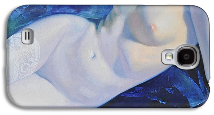 Art Galaxy S4 Case featuring the painting The Blue Ice by Sergey Ignatenko