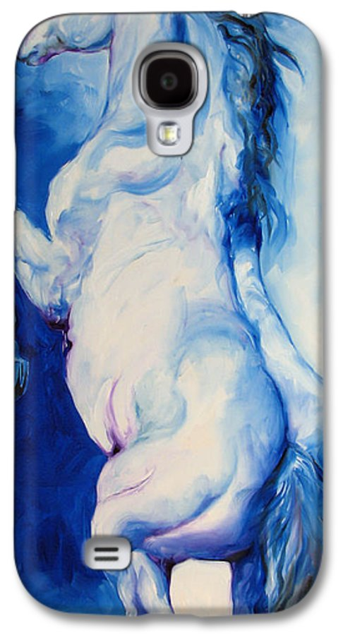 Horse Galaxy S4 Case featuring the painting The Blue Roan by Marcia Baldwin