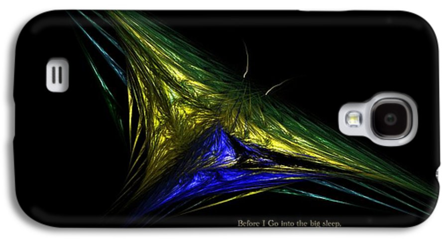 Abstract Digital Painting Galaxy S4 Case featuring the digital art The Butterfly Within by David Lane
