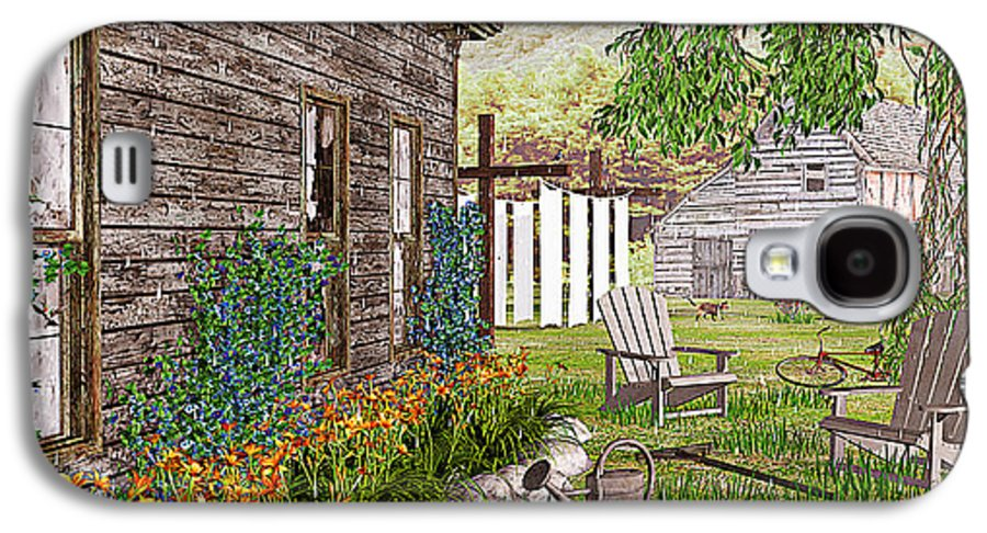 Adirondack Chair Galaxy S4 Case featuring the photograph The Chicken Coop by Peter J Sucy