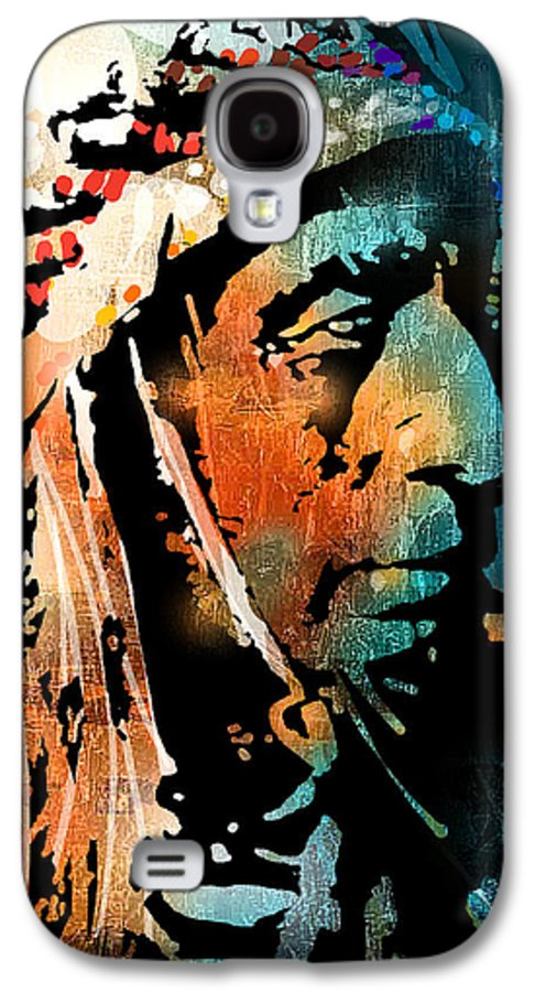 Native Americans Galaxy S4 Case featuring the painting The Chief by Paul Sachtleben