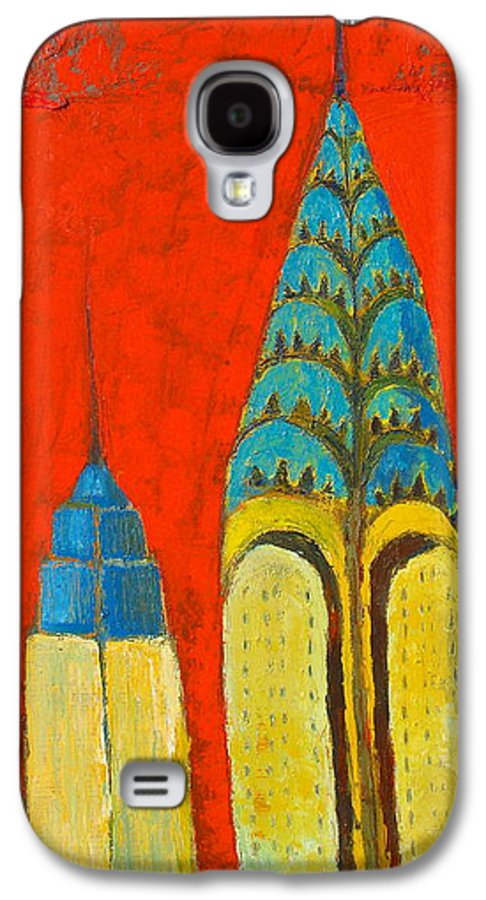 Galaxy S4 Case featuring the painting The Chrysler And The Empire State by Habib Ayat