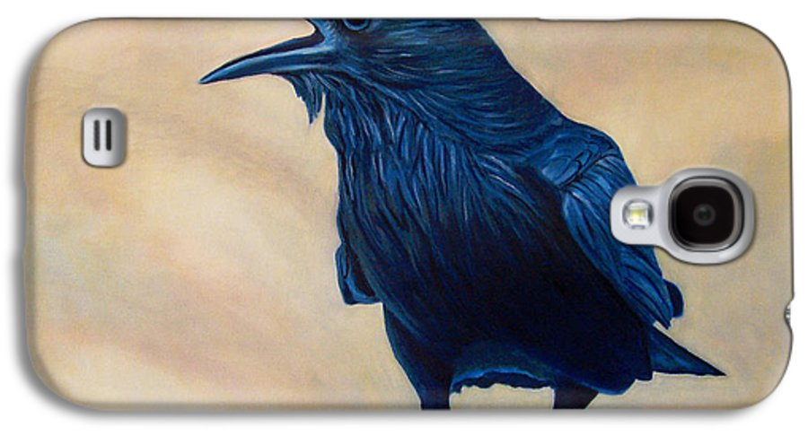 Raven Galaxy S4 Case featuring the painting The Conversation by Brian Commerford