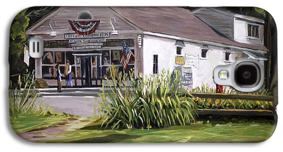 Buildings Galaxy S4 Case featuring the painting The Country Store by Nancy Griswold