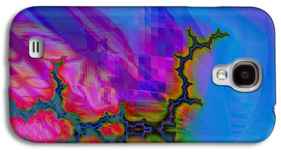 Fractal Galaxy S4 Case featuring the digital art The Crawling Serpent by Frederic Durville