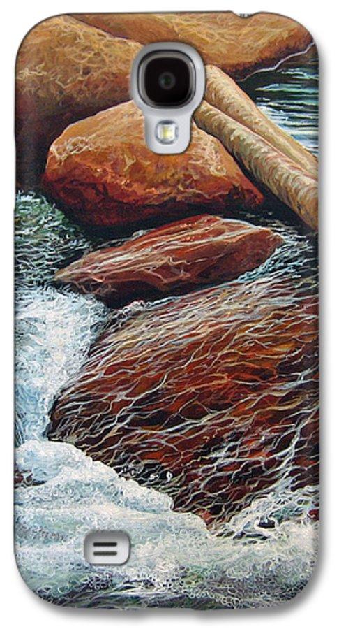 Stream Galaxy S4 Case featuring the painting The Crossing by Hunter Jay