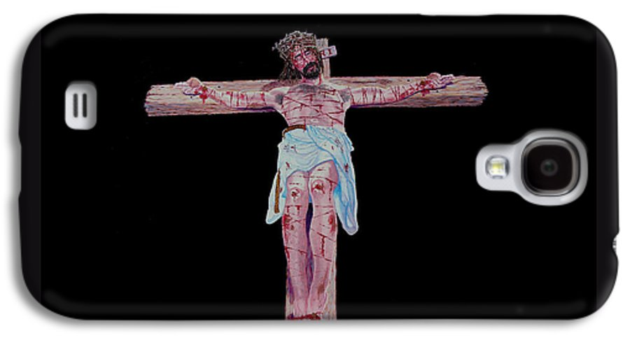Crucifixion Galaxy S4 Case featuring the painting The Crucifixion by Stan Hamilton