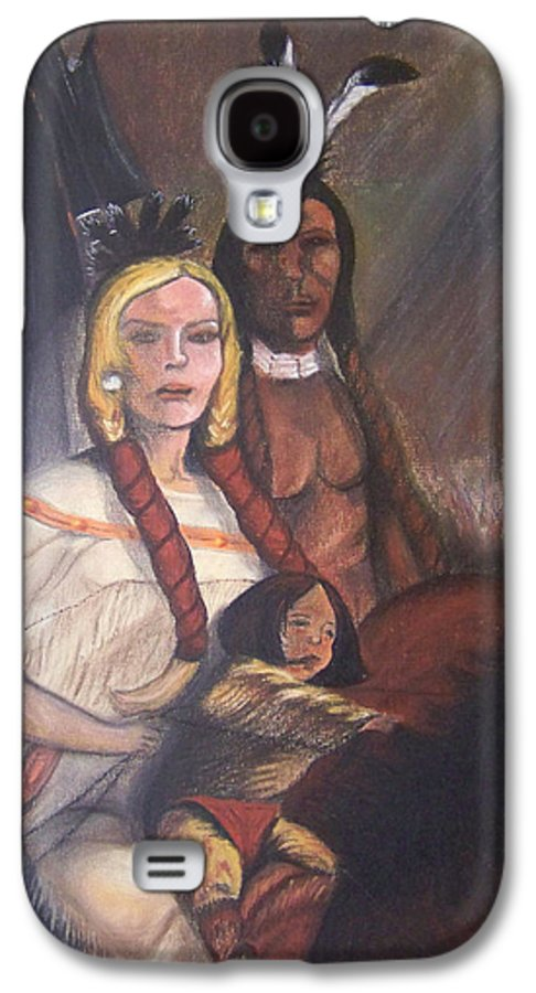 Artwork Galaxy S4 Case featuring the painting The Cynthia Ann Parker Family by Laurie Kidd