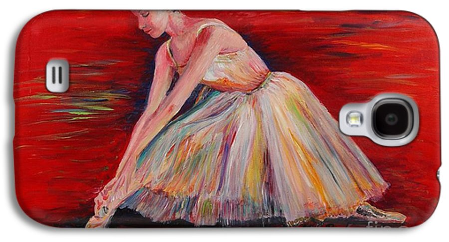 Dancer Galaxy S4 Case featuring the painting The Dancer by Nadine Rippelmeyer