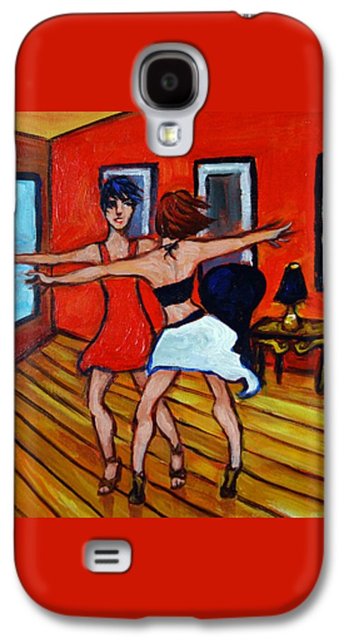 Dancers Galaxy S4 Case featuring the painting The Dancers by Valerie Vescovi