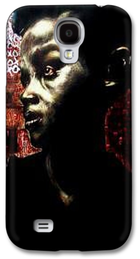 Portrait Galaxy S4 Case featuring the mixed media The Day We First Met by Chester Elmore