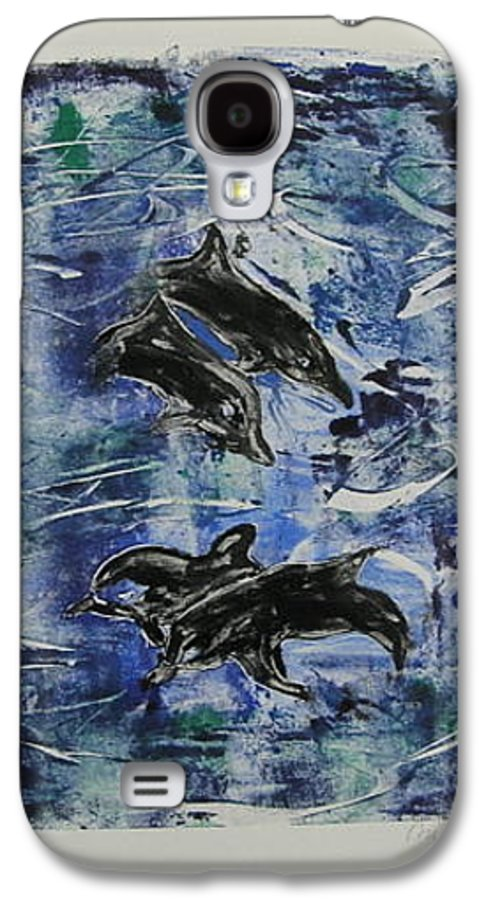 Monotype Galaxy S4 Case featuring the mixed media The Deep Sea by Cori Solomon