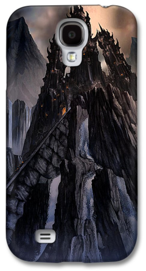 Architectural Galaxy S4 Case featuring the mixed media The Dragon Gate by Curtiss Shaffer