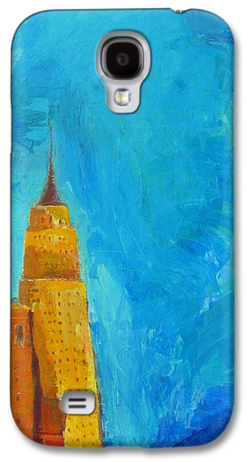 Abstract Cityscape Galaxy S4 Case featuring the painting The Empire State by Habib Ayat