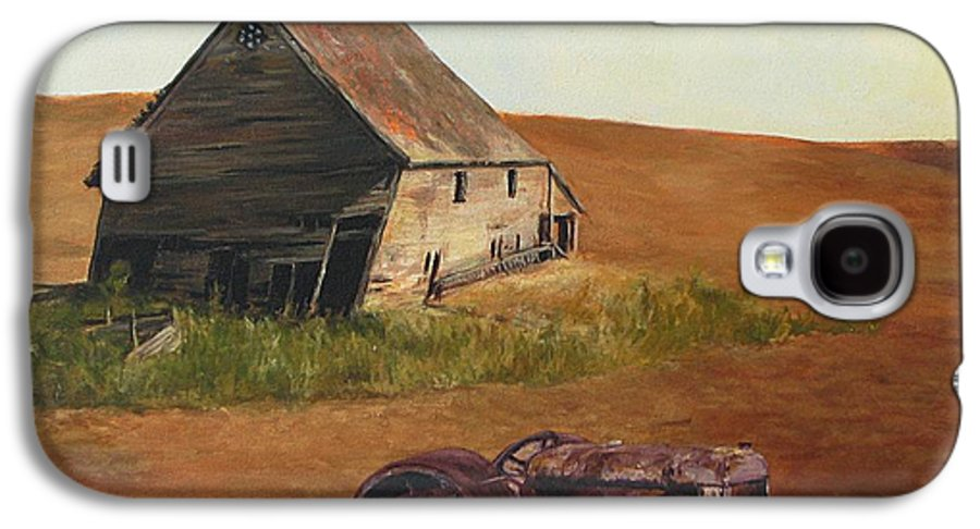 Oil Paintings Galaxy S4 Case featuring the painting The Forgotten Farm by Chris Neil Smith