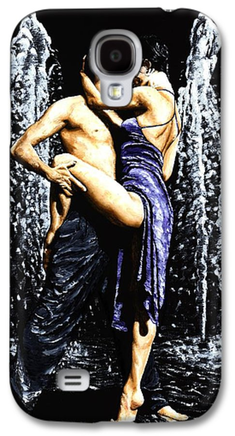 Tango Galaxy S4 Case featuring the painting The Fountain Of Tango by Richard Young
