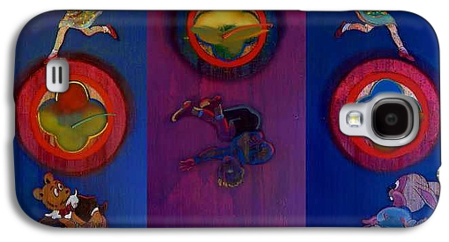 The Drums Of The Fruit Machine Stop At Random. Triptych Galaxy S4 Case featuring the painting The Fruit Machine Stops II by Charles Stuart