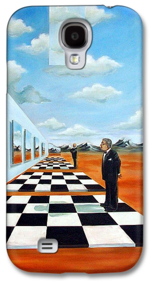 Surreal Galaxy S4 Case featuring the painting The Gallery by Valerie Vescovi