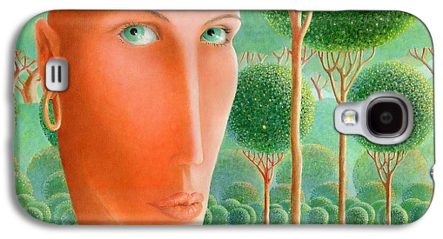 Giuseppe Mariotti Galaxy S4 Case featuring the painting The Garden by Giuseppe Mariotti
