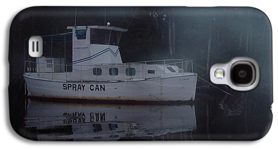 Boat Galaxy S4 Case featuring the painting The Ghost Ship by Debbie May