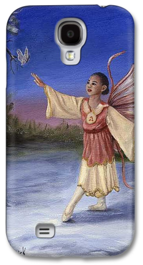 Christmas Galaxy S4 Case featuring the painting The Gift by Anne Kushnick