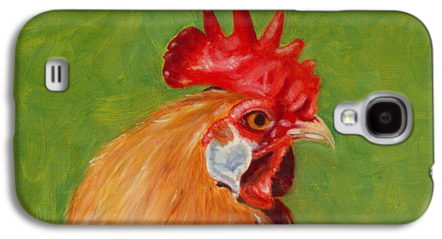 Rooster Galaxy S4 Case featuring the painting The Gladiator by Paula Emery