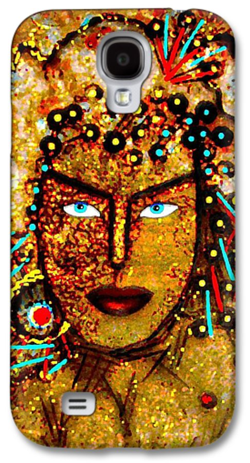 Goddess Galaxy S4 Case featuring the painting The Golden Goddess by Natalie Holland
