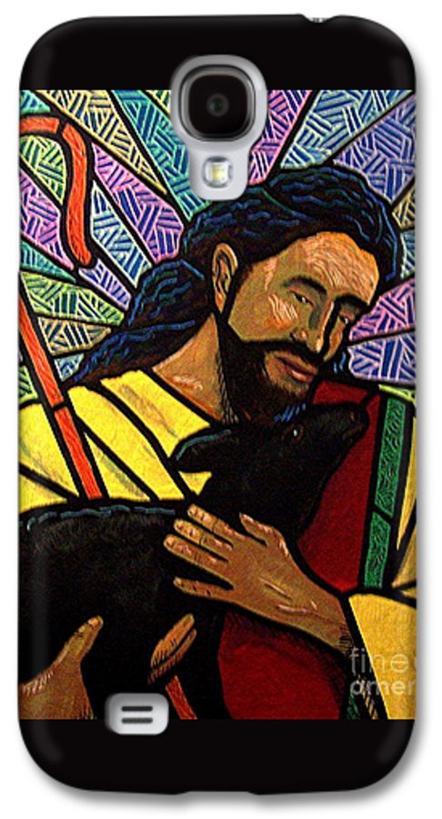 Jesus Galaxy S4 Case featuring the painting The Good Shepherd - Practice Painting One by Jim Harris