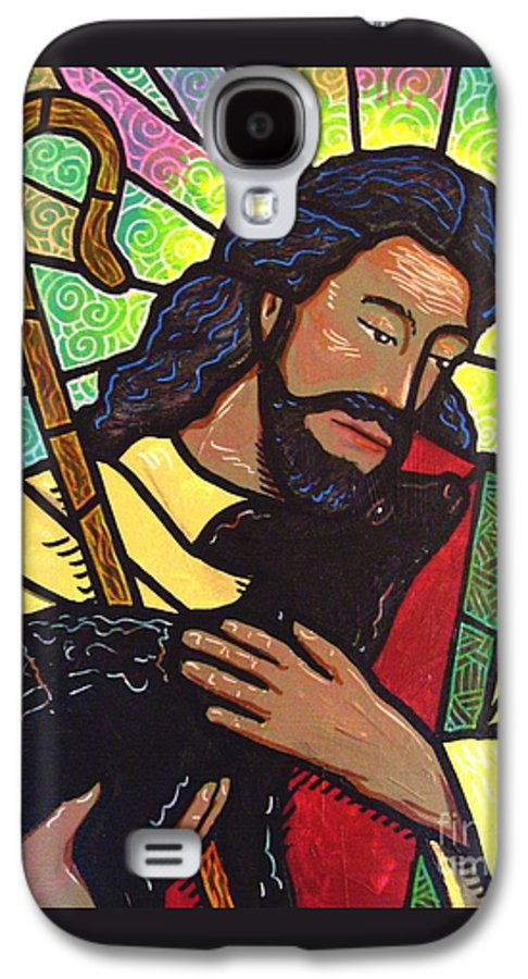 Jesus Galaxy S4 Case featuring the painting The Good Shepherd - Practice Painting Two by Jim Harris
