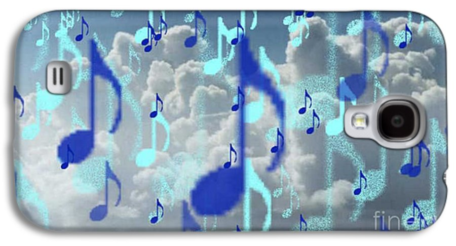 Galaxy S4 Case featuring the digital art The Greater Clouds Of Witnesses We Love The Blues Too by Brenda L Spencer